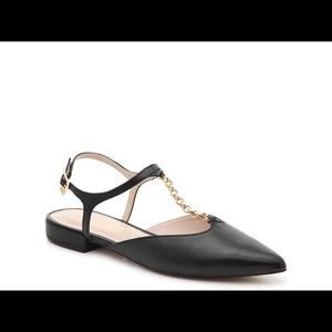 NWT, Nanette Angelina black flats size 8, 7.5